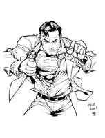 Superman inks by shoveke