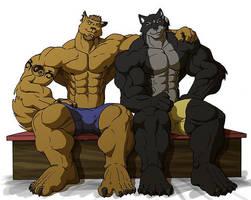 Gym brotherhood by Ohblon