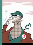 Hipster Eustace Tilley by JohnnyZito