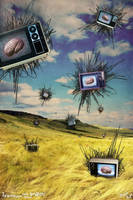 Television eats your brain by PhunkArt
