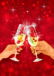 Cheers: Hands toast by MissChatZ