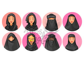 Hijab Avatars by MissChatZ