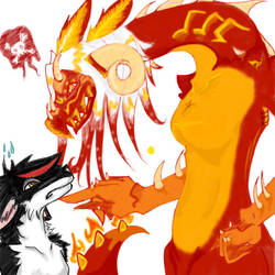Solstice and Fracture Face Off by w0lven-Spirit