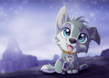 Frostwolf Pup by DVixie