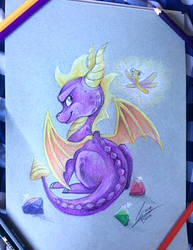 Spyro pencil drawing by DVixie