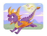 Spyro and Sparx by DVixie