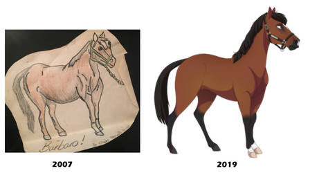Drawing Progress 2007/2019 by DVixie