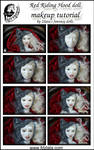 Red Riding Hood doll makeup tutorial by zlatafantasydolls