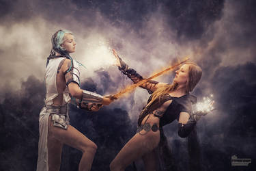 Battle of the Amazons by WesterArt