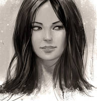 Female Portrait Painting Study by fantasio