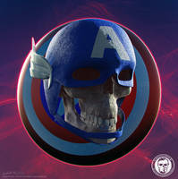 Skullified Captain America by fantasio