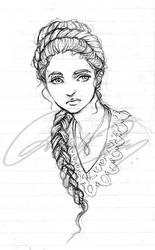 Sansa Lineart by duhi