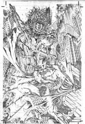 batman x predator by petervale