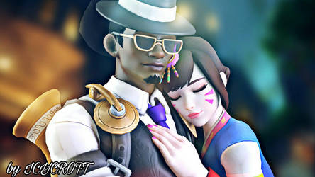 Overwatch-Lucio and D.va by ICYCROFT
