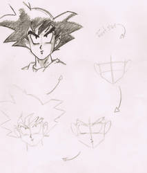 How to draw Son Goku by BrunovicArt