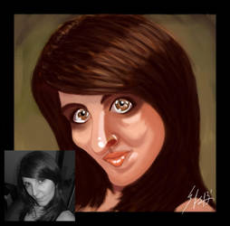 Liliana... Real and Caricature by BrunovicArt