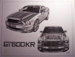 Shelby GT 500KR by SketchesByChris