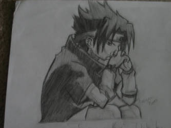 Sitting Sasuke by veryrandom