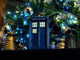 Dalek invasion of X-mas by RayWendy