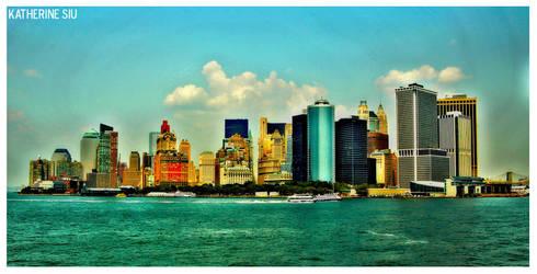 Manhattan Skyline by katherineisart
