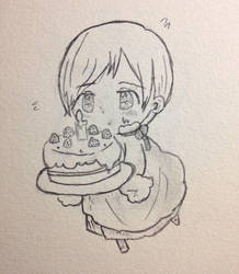 Chibi APH Finland Doodle (Birthday Edition) by Ekat-K