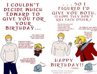 Cullen vs. Elric: Happy Bday by dragongirl76