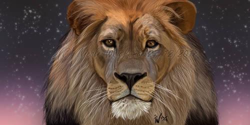Lion Portrait by Wolfs-echo