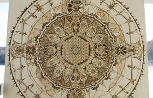 Mandala (In progress) Pyrography by Hipnosha