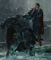 Batman v Superman: Dawn of Justice (b) by robinchyo
