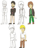 The Hunger Games Cast in Con. Paper Pt. 1 by Abi-Chan14