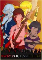 RWBY Rock AU Band Poster by Abi-Chan14