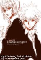 Killua and Curarpika by shel-yang