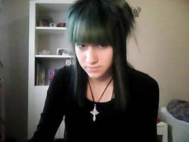 green hair by xpinkcloud