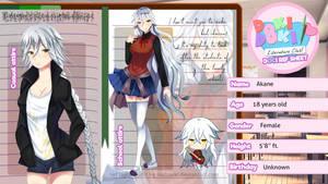 Doki doki character ref- Akane by AK-47x