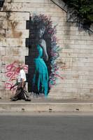 Girl in the turquoise by snikstencilstuff