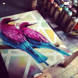 Summer colours by snikstencilstuff