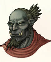 Orc gift-art by OnHolyServiceBound