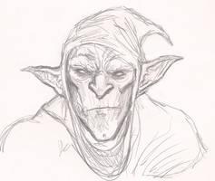 Styx pencil sketch by OnHolyServiceBound