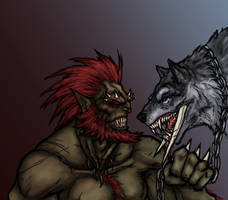 Orc and Warg by OnHolyServiceBound