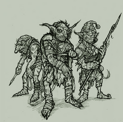 Goblin Encounter - On The Shoulders of Heroes by OnHolyServiceBound