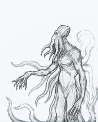 Giant Octopus Squid Monster by OnHolyServiceBound