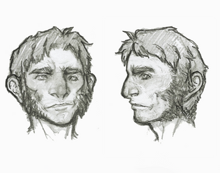 Halfling Head Reference by OnHolyServiceBound
