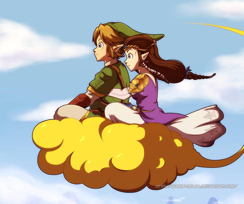 Flying home by Queen-Zelda