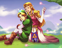 Happy heroes by Queen-Zelda