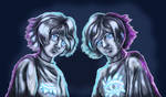 Draw it in your style - Twins by Cranash64