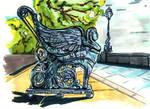 The Sphinx bench by Cranash64