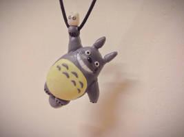 Totoro clay necklace by SallySherlocked