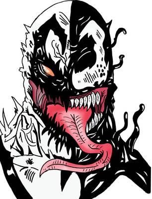 antivenom vs venom coloured by ryanfabio894 on deviantart