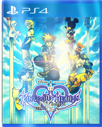 Kingdom Hearts 1.5/2.5 Remix Front Cover by KitaTheCrystalBlues