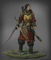 Mongol warrior by Naranb